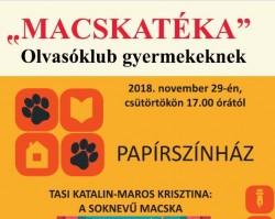 Tasi Katalin-Maros Krisztina: A soknevű macska Macskatéka Olvasóklub