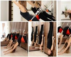 Ászana gyakorlás a kötél falon - Emelkedj fel a jógamatracról!