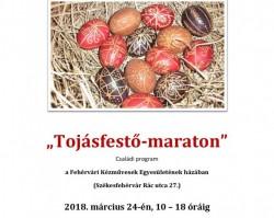 """""""Tojásfestő-maraton"""" Családi program a Fehérvári Kézművesek Egyesülete alkotóházában"""