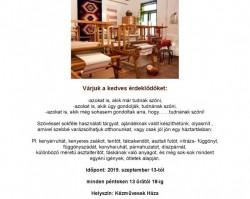 Vászon szövés oktatás  a Fehérvári Kézművesek Egyesülete szövő műhelyében