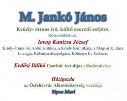 M. Jankó János szerzői estje
