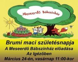 Brumi Maci születésnapja - A Meseerdő Bábszínház előadása