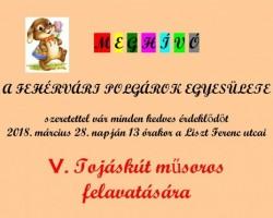 V. Fehérvári Tojáskút felavatása