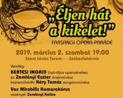 Vox Mirabilis Kamarakórus farsangi Opera parádé
