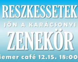 Karácsonyi zenekör a Hiemer kávézóban