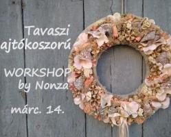 Tartós tavaszi ajtókoszorú workshop