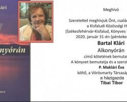 Bartal Klári: Alkonyórán könyvbemutató