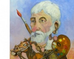 Szakál Antal karikatúra-kiállítás