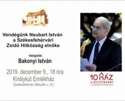 Beszélgetés Neubart Istvánnal a Székesfehérvári Zsidó Hitközség elnökével