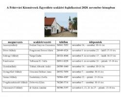 A Fehérvári Kézművesek Egyesülete szakköri foglalkozásai