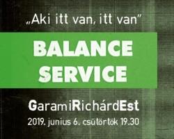Balance Service: GaramiRichárdEst 2019