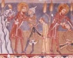 Szent Lászlót ábrázoló freskók Erdélyben
