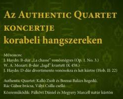 Az Authentic Quartet koncertje korabeli hangszereken
