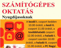 PC Nagyi - Számítógépes oktatás nyugdíjasoknak-kezdő csoport
