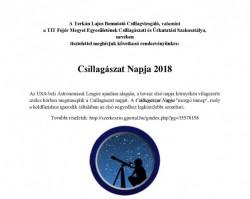 Csillagászat Napja 2018