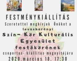 ELMARAD-   Lovasberényi Szín- Kör Kulturális Egyesület csoportos festménykiállítása