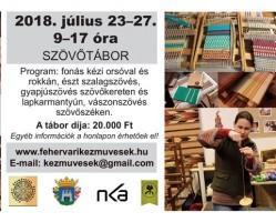Szövőtábor a Fehérvári Kézművesek Egyesülete szervezésében