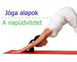 Napüdvözlet gyakorló jóga foglalkozás