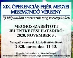 XIX. ÓPERENCIÁS FEJÉR MEGYEI MESEMONDÓ VERSENY