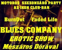 Motoros szezonzáró party a Blues Company-val