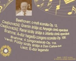 Kováts Kolos  operaénekes Teleki Miklós  orgona- és zongoraművész Suszter Andrea  hegedűművész koncertje