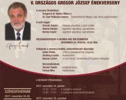 V. Országos  Gregor József Énekverseny