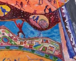 Barangolás A különutazás tereiben - múzeumpedagógiai foglalkozások Ujházi Péter kiállításában
