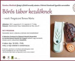 Bőrős tábor a Fehérvári Kézművesek Házában