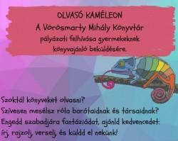 Olvasó Kaméleon nyári olvasmánypályázat