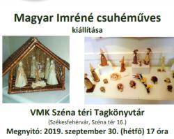 Magyar Imréné csuhéműves kiállítása