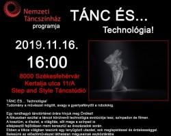 TÁNC ÉS... Technológia! Lakatos János nívódíjas koreográfus előadása