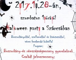 Halloween party a Szárcsában
