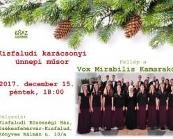 Karácsonyi ünnepi műsor Kisfaludon