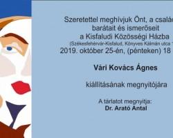 Vári Kovács Ágnes kiállítás megnyitó