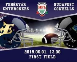 Fehérvár Enthroners-Budapest Cowbells amerikai futball mérkőzés