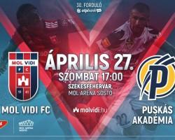 MOL Vidi FC - Puskás Akadémia FC