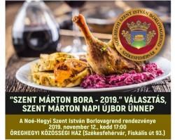 Szent Márton bora – 2019. – A Noé-Hegyi Szent István Borlovagrend rendezvénye