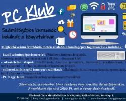 PC Klub - Számítógépes kurzus a Gárdonyiban több csoportban