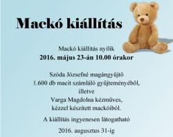 Mackó kiállítás