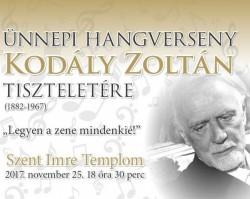 Ünnepi hangverseny Kodály Zoltán tiszteletére