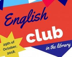 Angol klub a könyvtárban