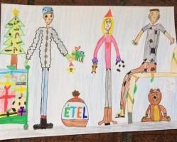 A székesfehérvári Diáktanács Adventi rajzpályázata