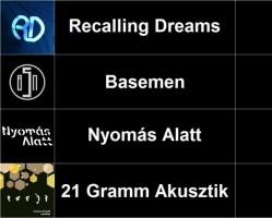 Recalling Dreams, Basemen, Nyomás Alatt, 21 Gramm Akusztik