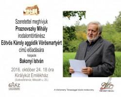 Beszélgetés Praznovszky Mihály irodalomtörténésszel
