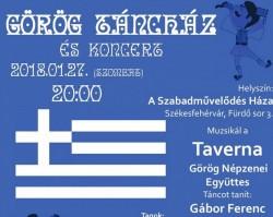 Görög táncház lesz A Szabadművelődés Házában a Taverna Együttessel