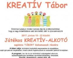 Játékos kreatív-alkotó tábor kiskamaszok részére