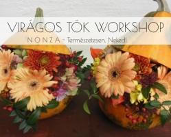 Virágos tök workshop