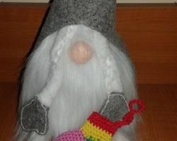 Karácsonyi mini zoknik horgolva - ONLINE
