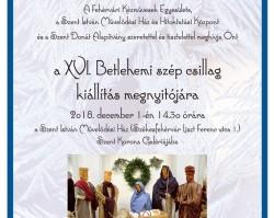 XVI. Betlehemi szép csillag kiállítás
