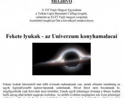 Fekete lyukak – az Univerzum konyhamalacai